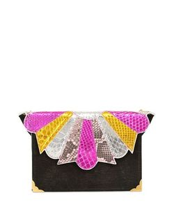 Imemoi | Envelope Mini Python Leather Bag
