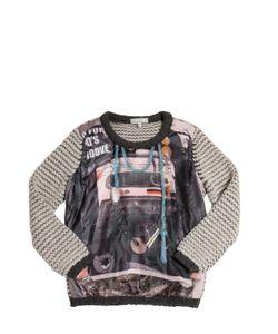 Venera Arapu | Printed Nylon Merino Wool Sweater