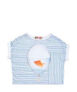 ANNE KURRIS | Fish In Balloon Cotton Jersey T-Shirt
