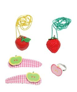 POP CUTIE | Fruit Ring Necklaces Hairclips Set