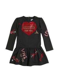 PHILIPP PLEIN JUNIOR   Heart Embellished Milano Jersey Dress