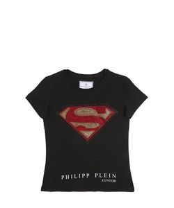 PHILIPP PLEIN JUNIOR   Superman Cotton Jersey T-Shirt