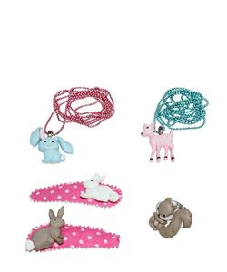 POP CUTIE | Animals Ring Necklaces Hairclip Set