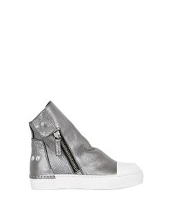 ARAIA KIDS | Laminated Leather High Top Sneakers