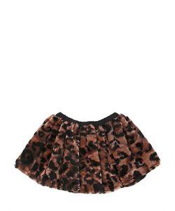 CAROLINE BOSMANS | Printed Faux Fur Skirt