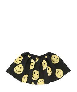CAROLINE BOSMANS | Smiley Face Printed Neoprene Skirt