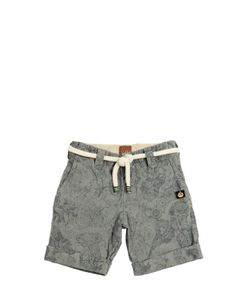 THE RAJ OF INDIA | Printed Denim Effect Cotton Shorts