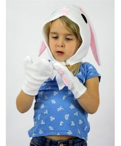 SPARROW & B | Bunny Felt Bonnet Gloves Costume Set