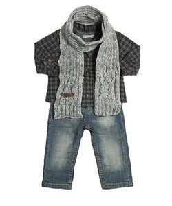 STICKY-FUDGE | Organic Cotton Shirt Jeans Scarf