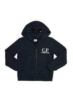C.P.COMPANY UNDERSIXTEEN | Logo Printed Cotton Zip-Up Sweatshirt