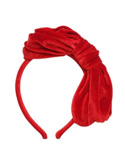 MIMISOL   Draped Bow Velvet Headband