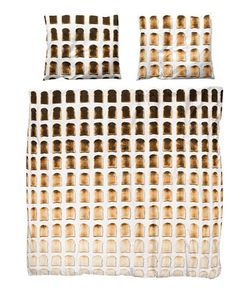SNURK | Toast Printed Cotton Duvet Cover Set