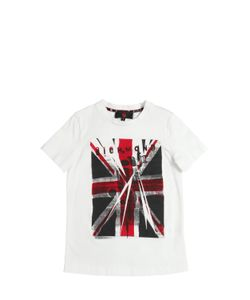 RICHMOND JUNIOR | England Flag Print Cotton Jersey T-Shirt
