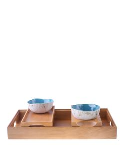 SOLANTU | Large Wooden Tray With 2 Small Trays