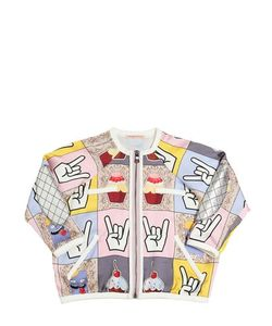 Venera Arapu | Digitally Printed Silk Satin Jacket