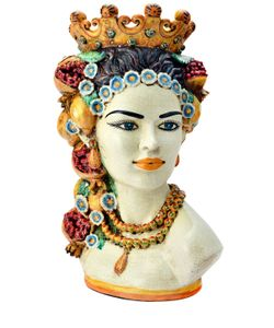 SICILY & MORE | Sicilian Fruit Queen Ceramic Moors Head