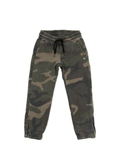 HYDROGEN KID | Printed Cotton Stretch Gabardine Pants