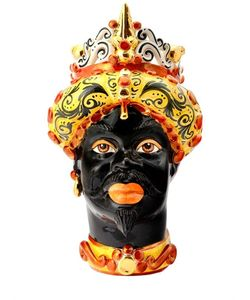 SICILY & MORE | Red Gold King Ceramic Moors Head