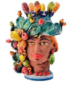 SICILY & MORE | Prickly Pear Female Ceramic Moors Head