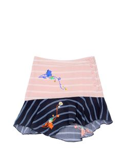 PREEN MINI | Ellie Striped Printed Viscose Skirt