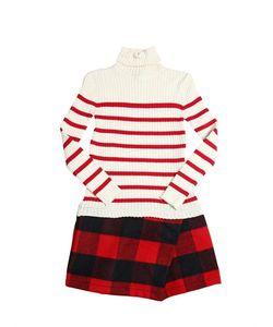 Junior Gaultier | Ribbed Knit Cotton Wool Felt Dress
