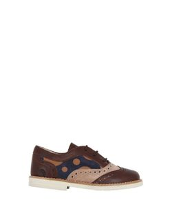 SONATINA | Polka Dot Suede Leather Lace-Up Shoes