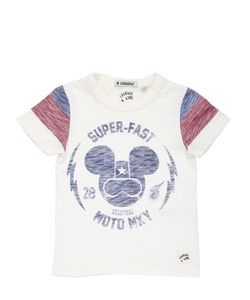 COURAGE&KIND | Mickey Printed Cotton Jersey T-Shirt