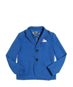 TAGLIATORE JUNIOR   Textured Stretch Cotton Jacket