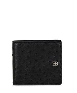 ETTORE BUGATTI COLLECTION   Eb Classic Ostrich Leather Wallet