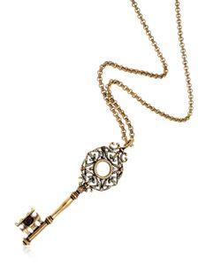 Alcozer & J   Key Necklace