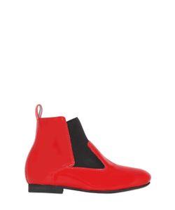 MANUELA DE JUAN | Patent Leather Ankle Boots