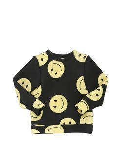CAROLINE BOSMANS | Smiley Face Print Neoprene Sweatshirt