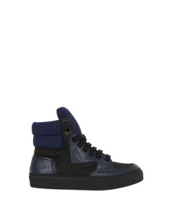 BRUNO BORDESE NEXT GENERATION | Neoprene Leather High-Top Sneakers