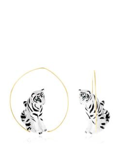 NACH | White Tiger Earrings