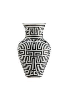 RICHARD GINORI 1735 | Labirinto Black Porcelain Ming Vase