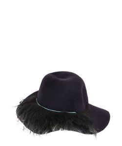 PATRIZIA FABRI | Lapin Fur Felt Hat With Fur Detail