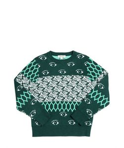 Kenzo Kids | Knitted Cotton Blend Jacquard Sweater
