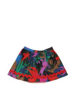 SONIA RYKIEL PARIS | Reversible Bird Print Cotton Satin Skirt