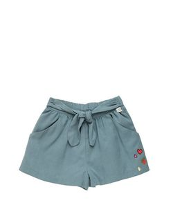 COURAGE&KIND | Twill Shorts With Self Tie Half Belt
