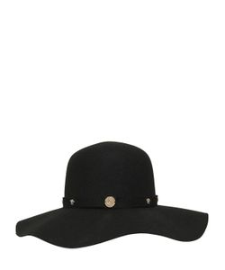 Young Versace | Wide Brimmed Wool Felt Hat