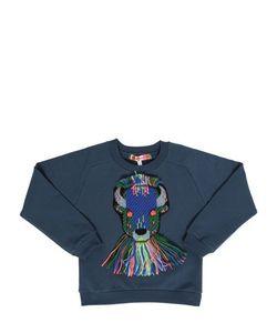 ANNE KURRIS | Woven Patch On Cotton Sweatshirt