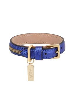 FRIDA FIRENZE | Small Dog Collar Leash W/ Zip Detail