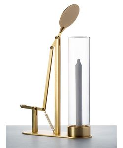 SECONDOME | Deus Brass Glass Candle Holder