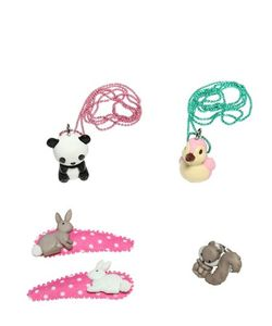 POP CUTIE | Animals Ring Necklaces Hairclips Set