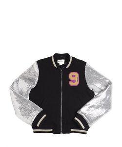 Diesel Kids | Sequins Cotton Padded Bomber Jacket