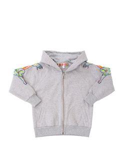 ANNE KURRIS | Embroidered Hooded Cotton Sweatshirt