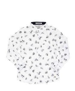 COURAGE&KIND   Printed Cotton Poplin Shirt