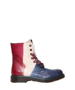 CARTA VETRATA | Color Block Leather Boots