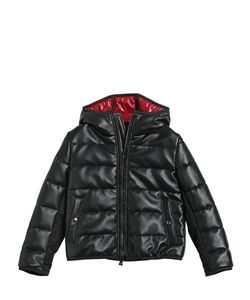 RICHMOND JUNIOR | Faux Leather Nylon Down Jacket