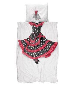 SNURK | Flamingo Dancer Cotton Duvet Cover Set